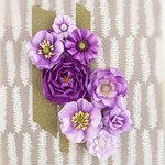 Prima - Capistrano Collection - Flower Embellishments - Grape Soda