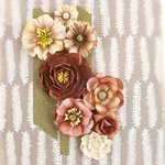 Prima - Capistrano Collection - Flower Embellishments - Milk Shake