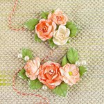 Prima - Winthrop Collection - Flower Embellishments - Topaz