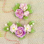 Prima - Winthrop Collection - Flower Embellishments - Amethyst