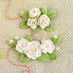Prima - Winthrop Collection - Flower Embellishments - Pearl