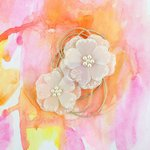 Prima - Sunset Collection - Flower Embellishments - Dusk