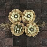 Prima - Capri Collection - Flower Embellishments - Riesling