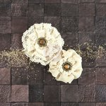 Prima - Capri Collection - Flower Embellishments - Pinot Grigio