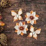 Prima - Bethleham Collection - Flower Embellishments - Roasted Chestnut