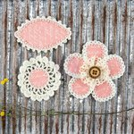 Prima - Pensacola Collection - Flower Embellishments - Blush