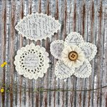 Prima - Pensacola Collection - Flower Embellishments - Smokey