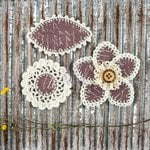 Prima - Pensacola Collection - Flower Embellishments - Mauve