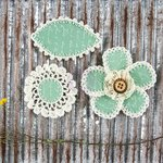 Prima - Pensacola Collection - Flower Embellishments - Pea