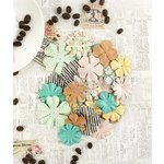 Prima - Coffee Break Collection - Flower Embellishments - Vanilla Latte