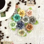 Prima - Coffee Break Collection - Flower Embellishments - Cappuccino