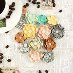 Prima - Coffee Break Collection - Flower Embellishments - Hot Chocolate