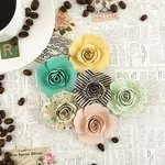 Prima - Coffee Break Collection - Flower Embellishments - Iced Coffee