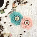 Prima - Coffee Break Collection - Flower Embellishments - Decaf