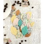 Prima - Coffee Break Collection - Leaves Embellishments - French Roast