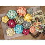 Prima - Cigar Box Secrets Collection - Flower Embellishments - Maduro