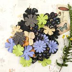 Prima - Forever Green Collection - Flower Embellishments - Spore