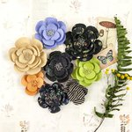 Prima - Forever Green Collection - Flower Embellishments - Garden