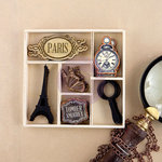 Prima - The Archivist Collection - Wood Embellishments - Icons