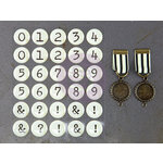 Prima - Timeless Memories Collection - Metal Trinkets - Recalled Numbers