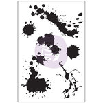 Prima - Cling Mounted Stamp - Paint Splatters