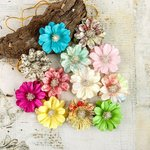 Prima - Garden Fable Collection - Flower Embellishments - Everbloom