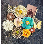 Prima - Timeless Memories Collection - Flower Embellishments - Nostalgia