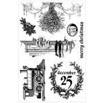Prima - A Victorian Christmas Collection - Cling Mounted Stamps