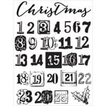 Prima - A Victorian Christmas Collection - Clear Acrylic Stamps - Two