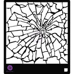 Prima - Stencils Mask Set - 6 x 6 - Broken Glass