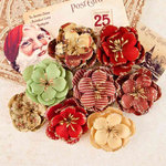 Prima - A Victorian Christmas Collection - Flower Embellishments - Holiday Lights