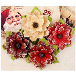 Prima - A Victorian Christmas Collection - Flower Embellishments - Joyeux Noel