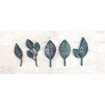 Prima - Metal Patina Trinkets - Stroked Leaves