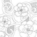 Prima - Paintables - 12 x 12 Paper - Magnolias