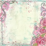 Prima - Sew Cute Collection - 12 x 12 Embroidered Paper - My Love, CLEARANCE