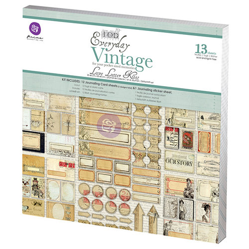 Prima - Everyday Vintage Collection - 12 x 12 Paper Kit - Love Letters