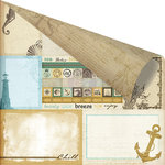 Prima - Seashore Collection - 12 x 12 Double Sided Paper - Sea Memories