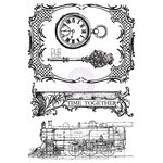 Prima - Time Travelers Memories Collection - Cling Mounted Stamps