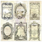Prima - Paintables - 4 x 6 Pocket Cards - Nostalgic Reflections