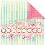 Prima - Paradise City Collection - 12 x 12 Double Sided Paper - Morning Orchids