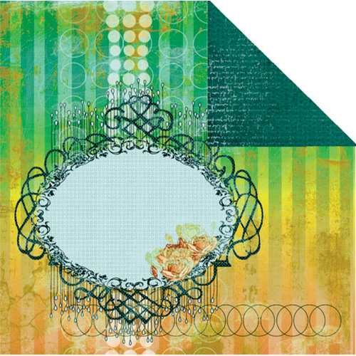 Prima - Paradise City Collection - 12 x 12 Double Sided Paper - Dancing Mangos, CLEARANCE