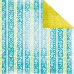 Prima - Tropics Collection - 12 x 12 Double Sided Paper - Waterfall