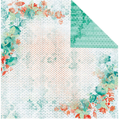 Prima - Tropics Collection - 12 x 12 Double Sided Paper - Mango Cherries