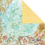 Prima - Watercolor Rainbow Collection - 12 x 12 Double Sided Paper - Tropical Lagoon