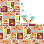 Prima - Umbrella Collection - 12 x 12 Double Sided Paper - Water Fun, CLEARANCE