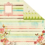 Prima - Strawberry Kisses Collection - 12 x 12 Double Sided Paper - Cherry Blossom