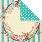 Prima - Strawberry Kisses Collection - 12 x 12 Double Sided Paper - Cupcake