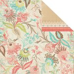 Prima - Strawberry Kisses Collection - 12 x 12 Double Sided Paper - Berry Splash