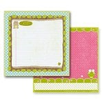 Prima - So Cute Collection - 12 x 12 Double Sided Paper - Noteworthy, CLEARANCE