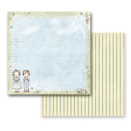Prima - Jack and Jill Collection - 12 x 12 Double Sided Paper - Sugar Skies